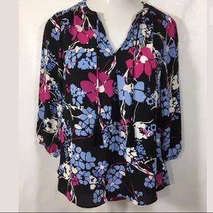 KAARI Blue Womens New Blouse Size XS